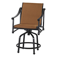 Morro Bay Padded Sling Swivel Balcony Stool