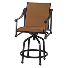 Morro Bay Padded Sling Swivel Bar Stool