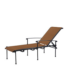Morro Bay Padded Sling Chaise Lounge