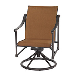 Morro Bay Padded Sling Swivel Rocker