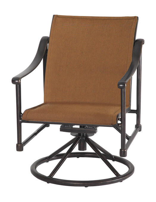 Morro Bay Padded Sling Swivel Rocking Lounge Chair