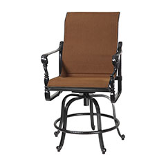Grand Terrace Padded Sling Swivel Rocking Balcony Stool