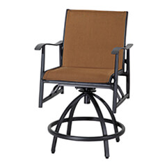 Lida Padded Sling Swivel Balcony Stool