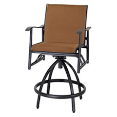 Lida Padded Sling Swivel Bar Stool