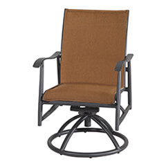 Lida Padded Sling Swivel Rocker