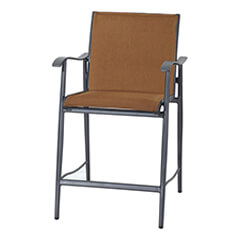 Lida Padded Sling Stationary Balcony Stool