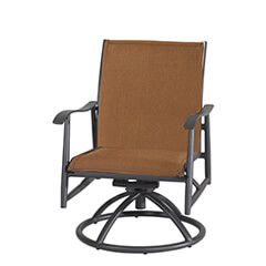 Lida Padded Sling Swivel Rocking Lounge Chair