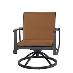 Paragon Padded Sling Swivel Rocking Lounge Chair