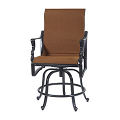 Bel Air Padded Sling Swivel Rocking Balcony Stool
