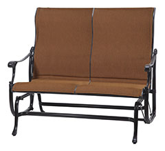 Michigan Padded Sling High Back Loveseat Glider