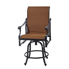 Michigan Padded Sling Swivel Balcony Stool
