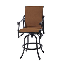 Michigan Padded Sling Swivel Bar Stool