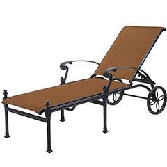 Michigan Padded Sling Chaise Lounge