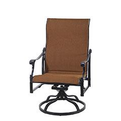 Michigan Padded Sling High Back Swivel Rocking Lounge Chair