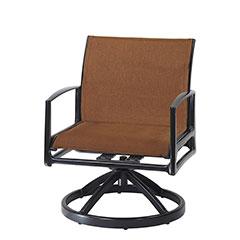 Phoenix Padded Sling Swivel Rocking Lounge Chair