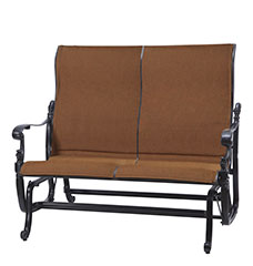 Florence Padded Sling High Back Loveseat Glider