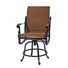 Florence Padded Sling Swivel Balcony Stool