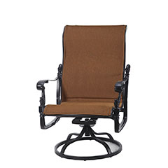 Florence Padded Sling High Back Swivel Rocking Lounge Chair