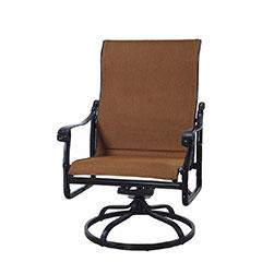 San Marino Padded Sling High Back Swivel Rocking Lounge Chair