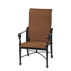 Grand Terrace Padded Sling High Back Dining Chair