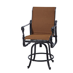 Grand Terrace Padded Sling Swivel Balcony Stool
