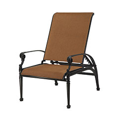 Grand Terrace Padded Sling Reclining Chair