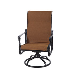 Grand Terrace Padded Sling High Back Swivel Rocking Lounge Chair