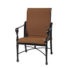 Grand Terrace Padded Sling Standard Back Dining Chair
