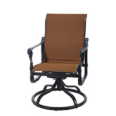 Grand Terrace Padded Sling Standard Back Swivel Rocker