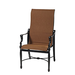 Bel Air Padded Sling High Back Dining Chair