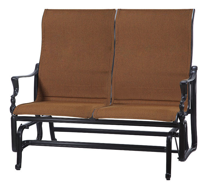 Bel Air Padded Sling High Back Loveseat Glider