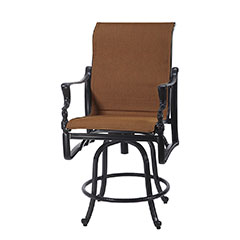 Bel Air Padded Sling Swivel Balcony Stool