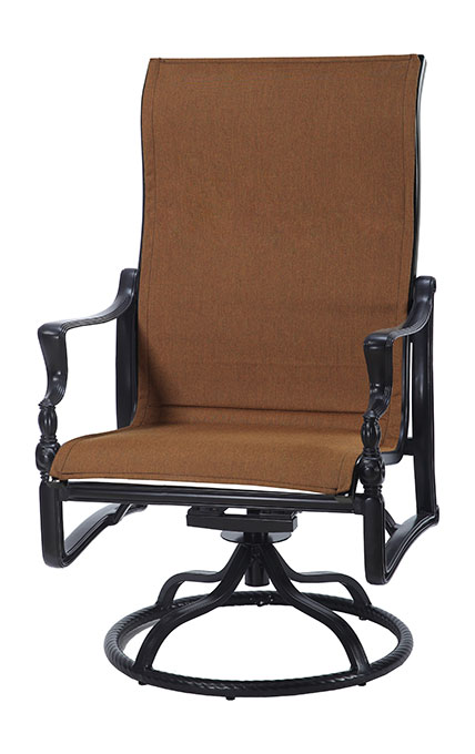 Bel Air Padded Sling High Back Swivel Rocking Lounge Chair
