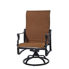 Bel Air Padded Sling High Back Swivel Rocking Lounge Chair