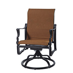 Bel Air Padded Sling Standard Back Swivel Rocker