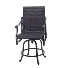 Michigan Woven Swivel Balcony Stool