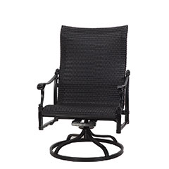 Michigan Woven High Back Swivel Rocking Lounge Chair