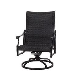 Michigan Woven High Back Swivel Rocking Lounge Chair