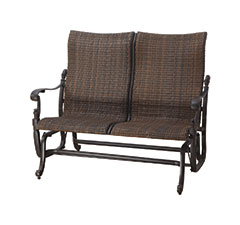 Florence Woven High Back Loveseat Glider