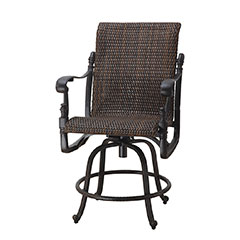 Florence Woven Swivel Balcony Stool