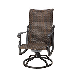 Florence Woven High Back Swivel Rocker