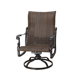 Florence Woven High Back Swivel Rocking Lounge Chair