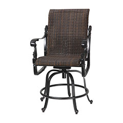 Florence Woven Swivel Rocking Balcony Stool