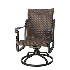 Florence Woven Standard Back Swivel Rocker