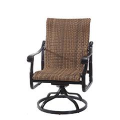 San Marino Woven High Back Swivel Rocking Lounge Chair