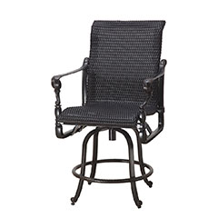 Grand Terrace Woven Swivel Balcony Stool
