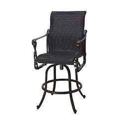 Grand Terrace Woven Swivel Bar Stool
