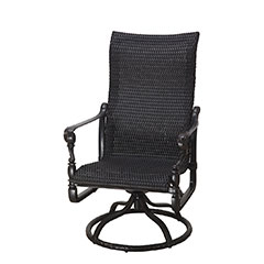 Grand Terrace Woven High Back Swivel Rocker