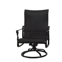 Grand Terrace Woven High Back Swivel Rocking Lounge Chair