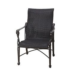 Grand Terrace Woven Standard Back Dining Chair